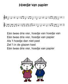Liedje : Hoedje van papier