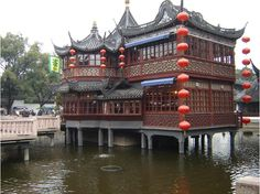 Chinese architecture at Yu Gardens, Yuyuan Garden restaurant with some of the best xiao long bao in the world. (Shanghai)