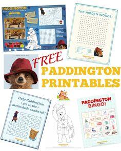 Free paddington Printables. Over 15 free paddington bare printables and activities for kids