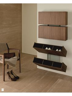 47 Amazing Bedroom Design Ideas with Storage Rack That Inspire If you're searching for more bedroom storage choices to continue to keep your bedroom neat and tidy, look at our … Wall Shoe Rack, Wall Mounted Shoe Rack, Shoe Racks, Shoe Rack With Mirror, Folding Shoe Rack, Wall Mounted Shoe Storage, Cool Furniture, Furniture Design, Furniture Plans