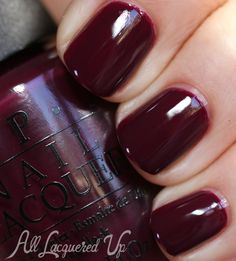 OPI In The Cable Car Pool Lane nail polish swatch OPI San Francisco for Fall 2013 Silver & Reds Nail Polish Swatches & Review