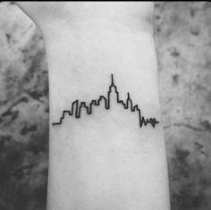 Cityscape Wrist Tattoo
