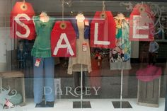 SS13 Sale Window at Darcey Heathfield. East Sussex