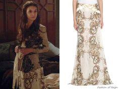 Reign 1x17, Kenna wears this Just Cavalli printed maxi skirt