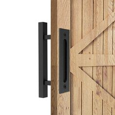 Add a rustic look to your living space by using this Boyel Living Black Square Pull and Flush Sliding Barn Door Handle Set. Convenient to handle. Bypass Barn Door Hardware, Barn Door Handles, Door Pull Handles, Sliding Door Hardware, Door Pulls, Sliding Doors, Modern Door Handles, Gate Handles, Wood Barn Door