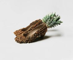 Those are the coolest shoes ever; I just hope it a fake pinneapple or thing could get a bit mouldy!