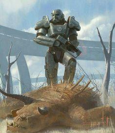 Fallout 4 - Brotherhood of Steel Fallout Art, Fallout 4 Funny, Fallout Concept Art, Fallout New Vegas, Fallout Tips, Fallout Posters, Cyberpunk, Paladin, Fallout Brotherhood Of Steel