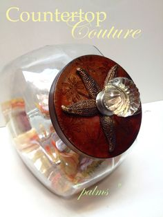 Palm Tree Cookie Jar Rustic & Beachy Chic by CountertopCouture, $48.00