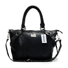Coach Madison Embossed Medium Black Totes DEO Give You The Best feeling!