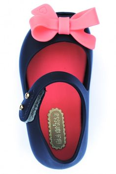 Mini Melissa Shoes Ultragirl Bow Mary Jane, Blue & Pink #MINIMELISSA #ONSALE
