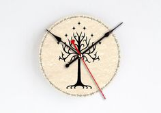 Lord of The Rings Clock White Tree of Gondor by TackTickTack, $22.00