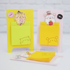 DIY post-it notes using my favorite  #mamaelephant #pagehuggers ❤