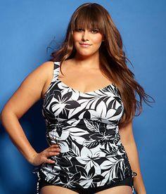 2e5d4239ff Maxine of Hollywood  Nature Walk Underwire Tankini Swimwear Top Plus Size  Rice Lake