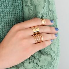 Stylish 3 Pieces Rings
