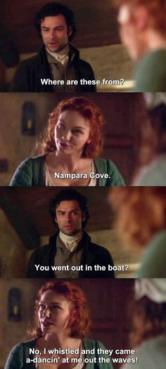 """You went out in the boat?"" - Ross and Demelza #Poldark"