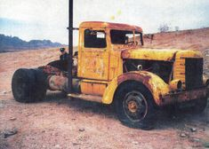 Oldest known Peterbilt restoration.Before and after, currently on display at Peterbilt in Denton, TX 1939 Model 260 Cool Trucks, Big Trucks, Pickup Trucks, Mack Trucks, Freight Truck, Custom Big Rigs, Rusty Cars, Abandoned Cars, Abandoned Vehicles