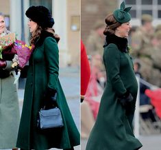 My oh my baby Cambridge has grown - The Duchess of Cambridge wearing the Catherine Walker coat in Sweden in January and then on St Patrick's Day in March 2018