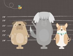 Puppy Dog line up by Melbourne artist and textile designer Lamai Anne