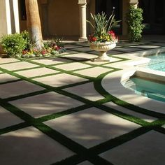 concrete pavers with turf - Google Search