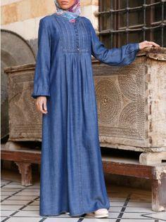 0223e1b529 Carefree Tencel Denim Abaya Denim Abaya