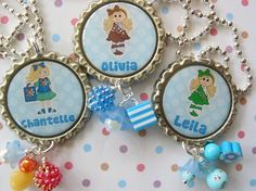 personalized bottle cap necklaces...gift for bridging