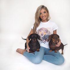 Girls custom pet tshirt dachshunds