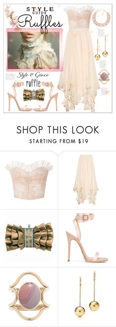 """Ruffle 💘 Love"" by jessicad110916 ❤ liked on Polyvore featuring Rodarte, Chloé, Giuseppe Zanotti, Mociun and DIANA BROUSSARD"