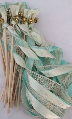 Personalized Wedding Ribbon Wands set of 100 Lace Wands, Custom Colors, Names… Wedding Ribbon Wands, Wedding Bells, Diy Wedding, Wedding Favors, Wedding Ceremony, Dream Wedding, Wedding Decorations, Wedding Day, Wedding Church