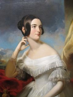 Samuel Bell Waugh, Miss Jane Mercer, 1840. http://www.artsalonholland.nl