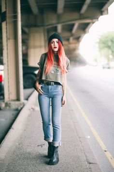 Perfect pair of vintage high- waisted jeans