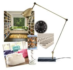 """""""Library"""" by regulus-star on Polyvore featuring interior, interiors, interior design, home, home decor, interior decorating, Home Essentials, PBteen, Umbra and Threshold"""