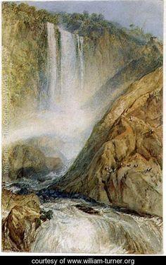 The Falls of Terni, 1817 - Joseph Mallord William Turner - www.william-turner.org