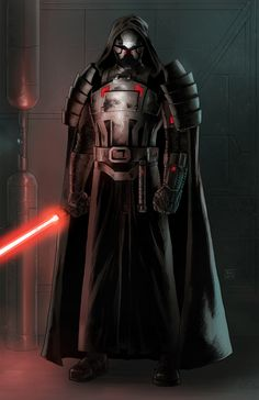 Sith Lord specializing in conquest. Star Wars Characters Pictures, Images Star Wars, Star Wars Sith, Star Wars Rpg, Star Wars Concept Art, Star Wars Fan Art, Sith Warrior, Sabre Laser, Arte Alien