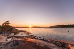 Saariston Rengastie - Skärgårdens Ringväg Archipelago, Trail, Celestial, Sunset, Outdoor, Outdoors, Sunsets, Outdoor Games, The Great Outdoors