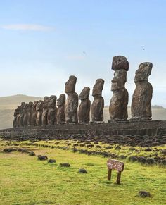 """10.6k Likes, 74 Comments - Living Destinations (@living_destinations) on Instagram: """"Awesome Moai sculptures ~ Easter Island, Chile Photo: @michutravel Congrats! 👏 TAG someone you…"""""""