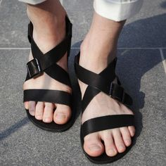 Casual genuine leather beach sandals the trend of male leather sandals sandals $86.00
