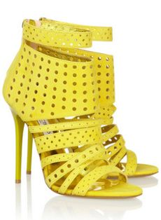 Yellow Gladiator sandals by Jimmy Choo