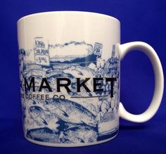 Starbucks PIKE PLACE MARKET Mug 2005 Skyline Series Seattle Coffee Co Cup 16 OZ #Starbucks