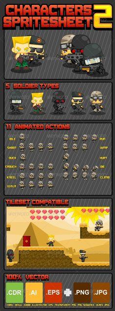 Characters Spritesheet Download here: https://graphicriver.net/item/characters-spritesheet/5129018?ref=KlitVogli