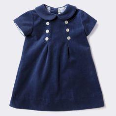 Baby CZ :: baby girl :: dresses :: velvet Pearl dress, navy family photo