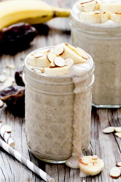 Roasted Banana and Almond Smoothie   www.floatingkitchen.net