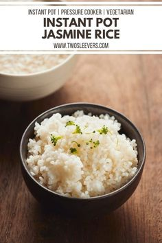 Get perfect Instant Pot Jasmine Rice every time with this simple and foolproof method. Learn how to make jasmine rice quickly, easily and with less effort than other methods! Perfect Instant Pot Jasmine Rice every time! How To Make Instant Pot Jasmine Rice | Jasmine Rice | Instant Pot Jasmine Rice | Pressure Cooker Jasmine Rice | How To Cook Jasmine Rice | Pressure Cooker Jasmine Rice | Perfect Jasmine Rice | TwoSleevers | #twosleevers #jasminerice #instantpot #howtocookrice Pressure Cooker Rice, Instant Pot Pressure Cooker, Pressure Cooker Recipes, Jasmine Rice Recipes, Cooking Jasmine Rice, Perfect Jasmine Rice, Best Comfort Food, Comfort Foods, Best Instant Pot Recipe