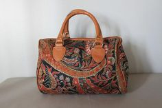 vintage THE SPICE TRADER leather speedy bag / by ScottieinaCanoe, $33.00