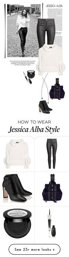 """Jessica Alba"" by jan31 on Polyvore featuring DL1961 Premium Denim, Jimmy Choo, H&M, Burberry and Lancôme"