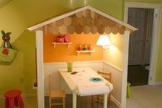 DIY inspiration: indoor playhouse