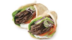 Make it a perfectly balanced plate & serve with: 2 C ml) mixed greens with 2 Tbsp ml) Epicure salad dressing, your choice. Donair Meat Recipe, Donair Sauce, Epicure Recipes, Beef Recipes, Real Food Recipes, Vinaigrette, Roasted Garlic Aioli, Easy To Cook Meals, Whole Wheat Pita