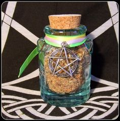Witch Bottle Beltane Incense and Herb Blend in glass bottle Beltane Sabbat Bonfire Incense Pagan Ritual Wiccan Altar Witch Celebration - New Moon Enterprise  - 1