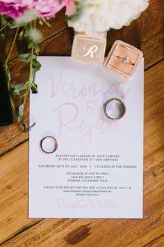 Whimsical Blush Pink & White Wedding Invitations | Photography: Sarah Libby Photography | #bridesofok #weddings #invitations