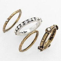 Stephan & Co. Stackable Rings (Set of 4) | Nordstrom