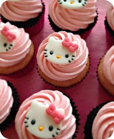 Quite a long while back I had an order for some girly Hello Kitty cupcakes! I quickly got to work researching how I was going to make the little toppers out of fondant. Right away I found some awes…